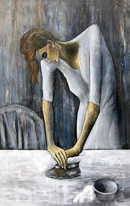 Picasso's Woman Ironing Painting by Leonardo Ruggieri
