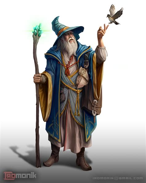 [ART] Human Wizard Character art : DnD