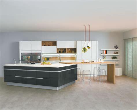 ot central de cuisine cuisine avec îlot central modèle sensations