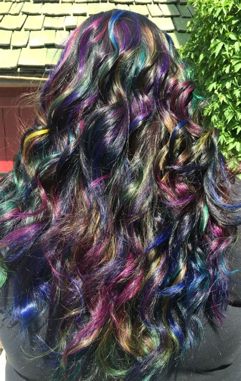 Oil Slick Hair Pravana Vivids Hair