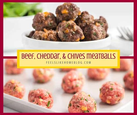 carb beef cheddar  chive meatballs feels  home