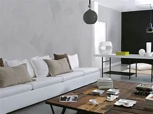 avec les enduits effets de matiere garantis maison With peindre son salon en gris et blanc 8 deco salon amenagement salon conseils darchitectes