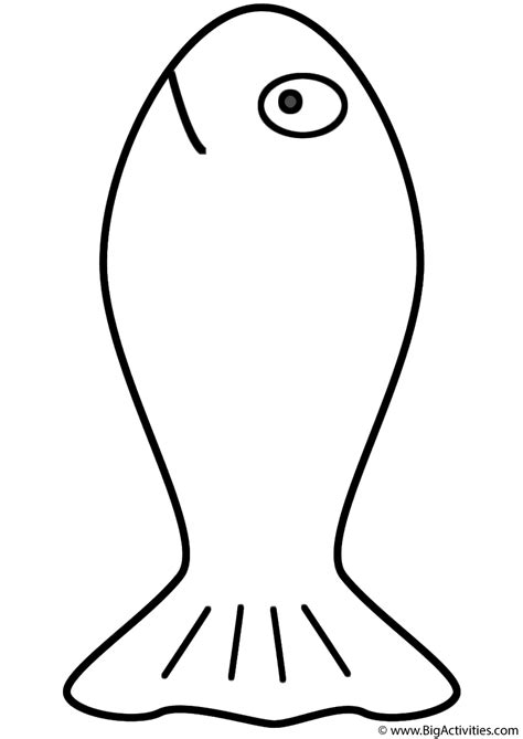 goldfish coloring page fish