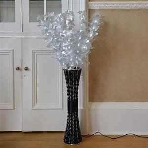 floor standing fibre optic lamp flowers indoor white With floor lamp 1m
