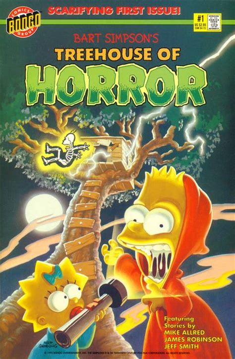 bart simpsons treehouse  horror comics guide covers