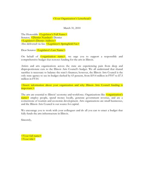 letter to senator template template for letter to senate appropriations committee member