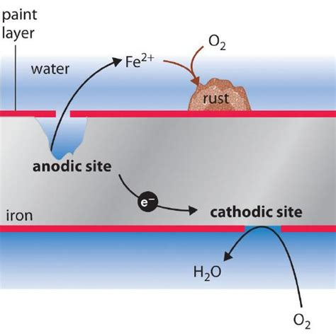 corrosion chemistry redox iron coating principles reactions oxygen protection paint protective cathode applications molecular libretexts lead mechanical figure scratches rapid