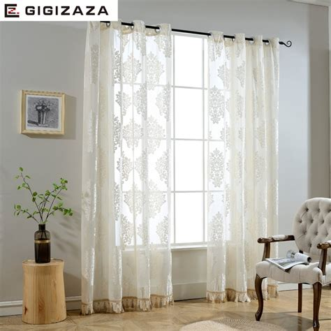 Where To Buy Living Room Curtains by Aliexpress Buy Gigizaza Luxury Decorative Voile