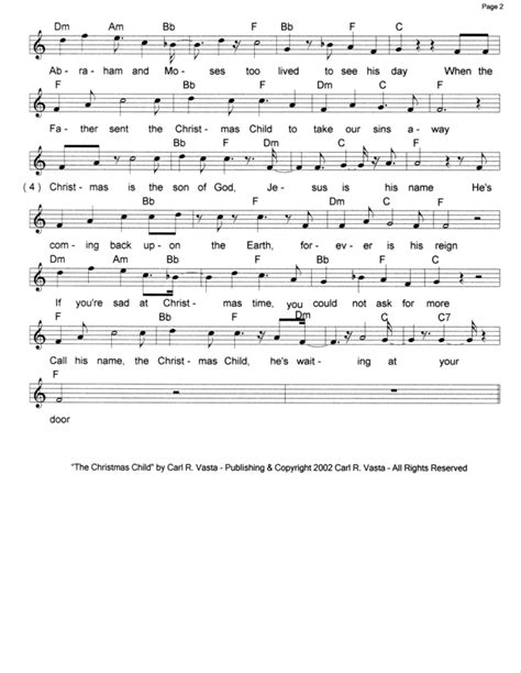 The Christmas Child Song  Pdf Music, Midi & Mp3