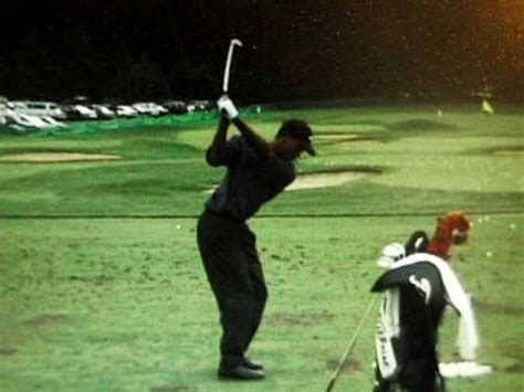 tiger woods swing tiger woods 1997 rear view golf swing
