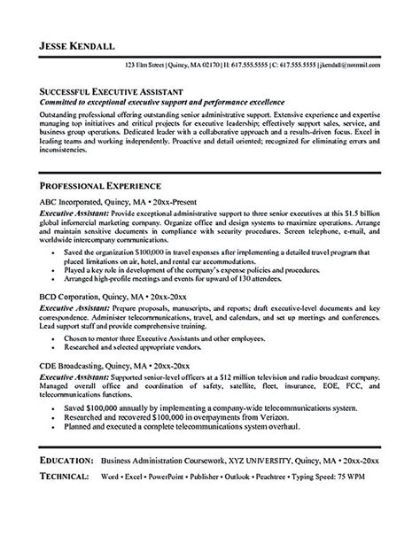 28 best images about executive assistant resume exles