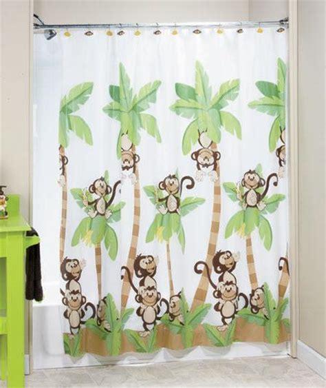 monkey shower curtain jungle monkey bathroom shower curtain bath accessories ebay