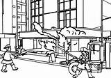 Coloring Pages Fireman Fire Truck Building Station Fighters Rescue Colouring Printable Sheets Getdrawings Drawing Popular sketch template