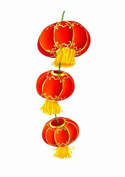 Chinese Clipart Clip Lunar Decorations Firecrackers Dragon