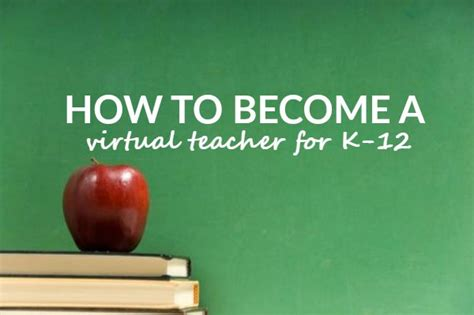 How To Become A Virtual Teacher For K12