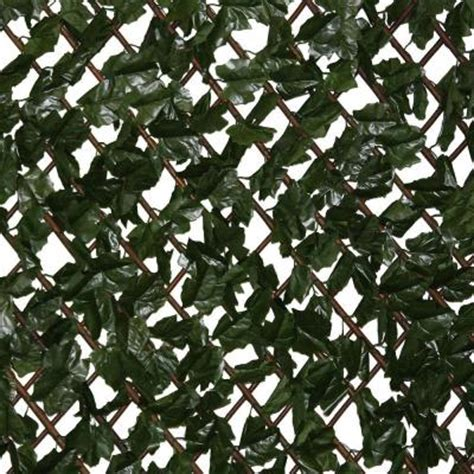 compass home expandable faux ivy privacy fence with lights ez ivy expandable lattice with ivy 8030 the home depot