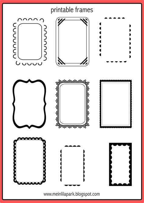 printable doodle frames bullet journal template
