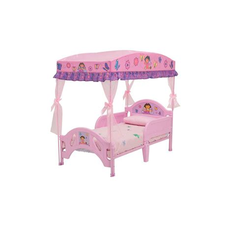 delta children dora the explorer toddler bed with canopy