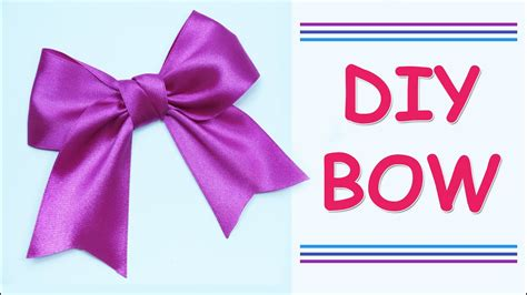 diy make simple easy bow of satin ribbons how to make a ribbon bow diy and easy
