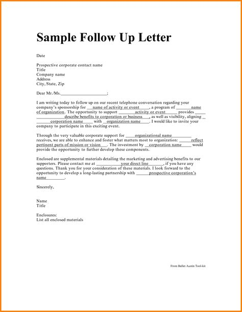 Follow Up Letters by Follow Up Letter Gplusnick