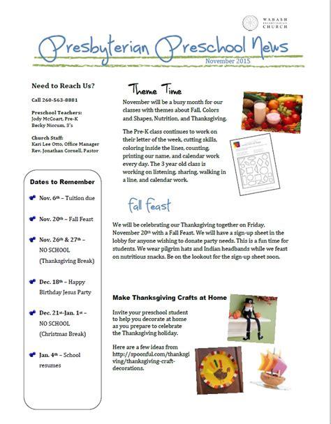 preschool newsletter november 2015 171 wabash presbyterian 589 | Preschool Newsletter 11.2015