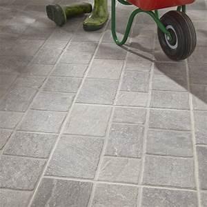 Carrelage Clipsable Leroy Merlin : carrelage sol gris effet pierre sanpietrini x cm leroy merlin ~ Carolinahurricanesstore.com Idées de Décoration