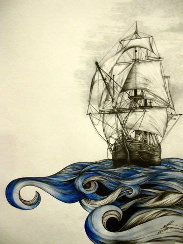 Boat Drawing Tattoo by Best 25 Pirate Ship Drawing Ideas On Pinterest Pirate