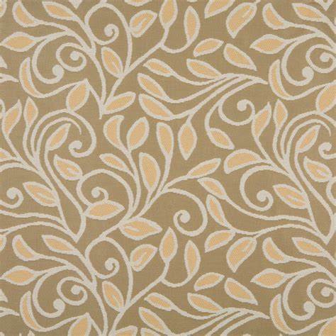 outdoor upholstery fabric gold beige and vines and leaves woven outdoor