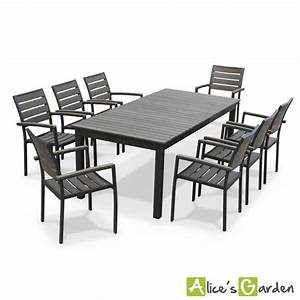 seattle table de jardin 8 places extensible achat With salon de jardin avec rallonge