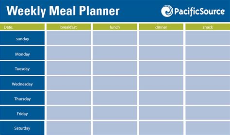 editable weekly meal planner editable meal planner hunecompany