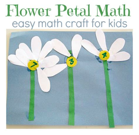 flower math activity no time for flash cards 734 | flower petal math activity for kids