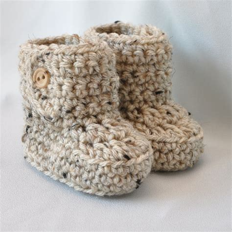 crochet baby booties baby booties crochet baby boots with button top size 0 to 6