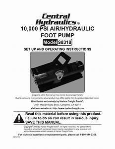 Harbor Freight Tools 10 000 Psi Pneumatic Hydraulic
