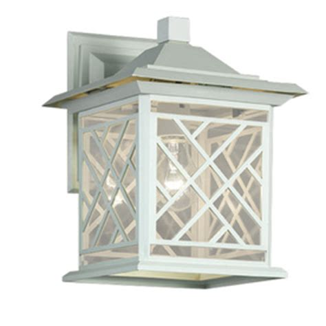 shop portfolio 11 75 in h white outdoor wall light at