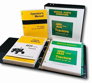Service Manual Set For John Deere 4020 4000 Tractor