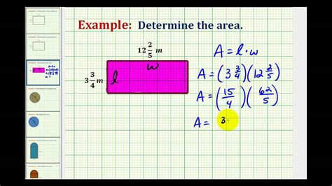 determine  area   rectangle  mixed