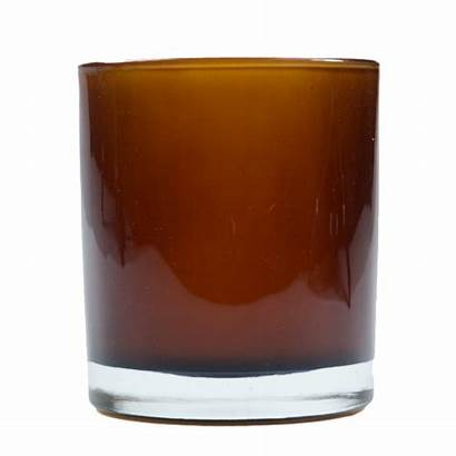 Amber Candle Cup Tumbler Case Holders Flameless