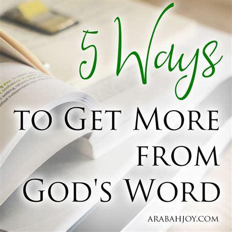 5 Ways To Get More From God's Word