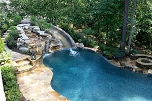Piscine Avec Cascade : piscine cascade toboggan design innovant de la maison et ~ Premium-room.com Idées de Décoration
