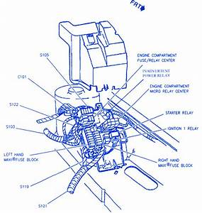 Cadillac Sls 1997 Right Under Hood Fuse Box  Block Circuit Breaker Diagram