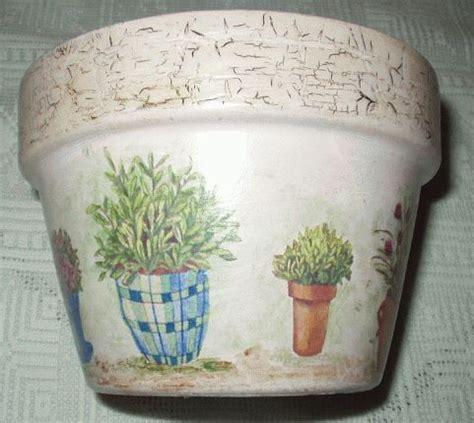 vaso di coccio decoupage