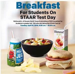 McDonald's Offers Free Breakfast on STAAR Test Day   KPLX-FM