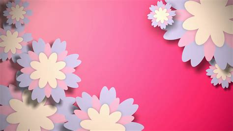 Pink Animated Wallpaper - animated wallpaper with pastel color flowers on pink