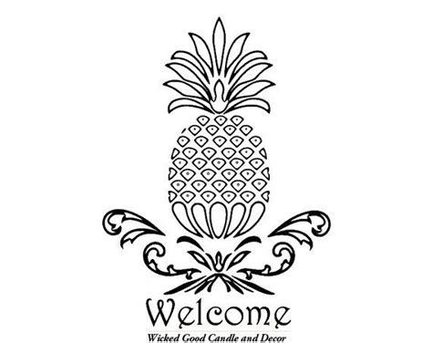 vinyl decal  pineapple  wickedgooddecor  etsy  pineapple wall decals vinyl
