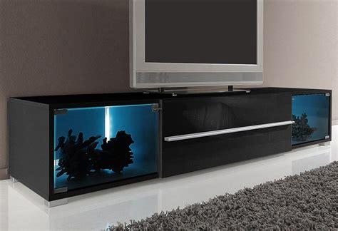tv lowboard mit  vitrinenfaechern breite  cm oder