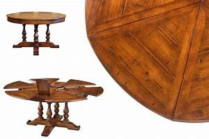 round dining table with hidden leaves solid walnut With round dining room tables with leaf