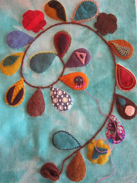 Felt Applique Patterns by Sue Spargo Inspired Applique Wool Quilts Embroidery