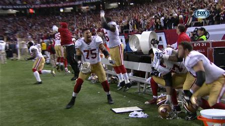 nfc championship ers fourth  stop seals win