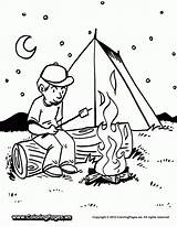 Coloring Camping Pages Preschool sketch template