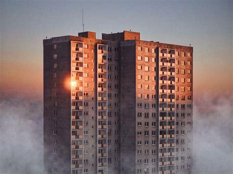 high rise    tower block loom  large  post soviet era photography  calvert